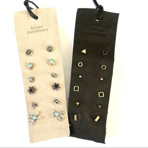 URBAN OUTFITTERS 6 pairs of earrings on suede NWT